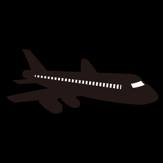 飛行機 旅客機 ジェット機 空を飛ぶ アイコン イラスト フリー素材 背景透明